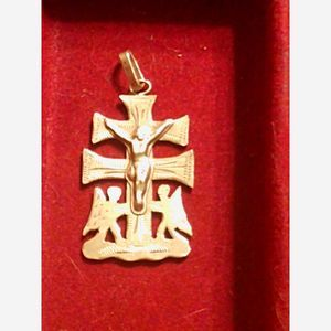 980~Sterl Slv~Cross Pendant~Jesus~Angel
